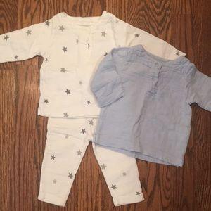 3 piece Aden and Anais baby set